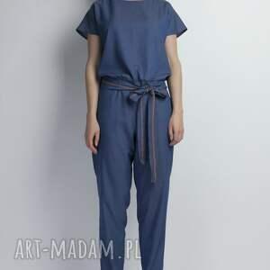 spodnie kombinezon, kb107 jeans