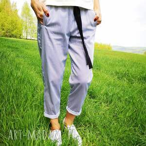 paski spodnie marine