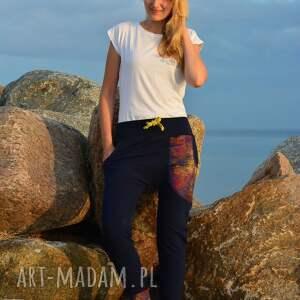 oryginalne spodnie yoga miedziana koronka damskie