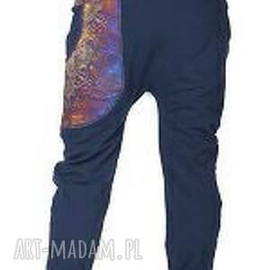 spodnie yoga miedziana koronka damskie