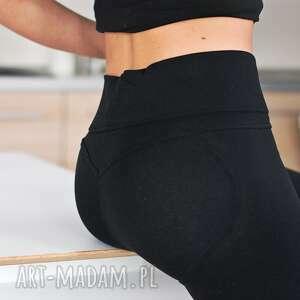 hand-made spodnie fajne modne eleganckie legginsy czarne