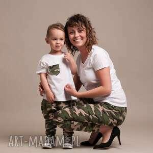 spodnie dla mamy moro dresowe - damskie