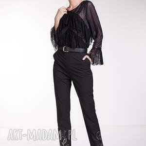 czarne spodnie moda manola