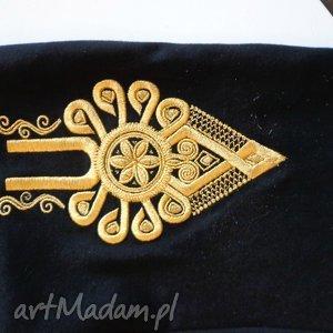 czarne spodnie góralskie dresy portki folk design aneta