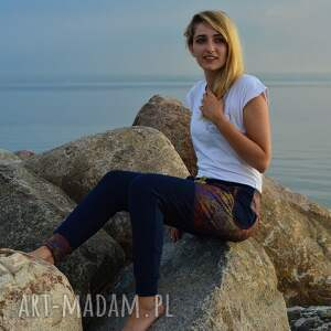 yoga spodnie s, m, l miedziana koronka