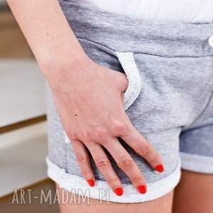 RED MASTER CLOTHES spodnie: Sportowe gładkie szare damskie spodenki wiosna lato xs/s fajne
