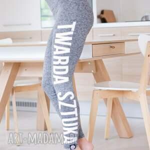 hand made melanżowe sportowe legginsy push