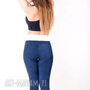 nietypowe spodnie push sportowe legginsy dżinsowe