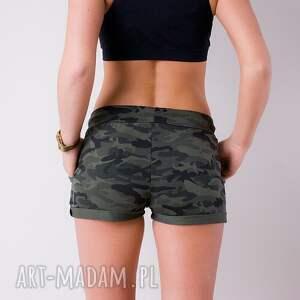 zielone spodnie sportowe militarne unikatowe