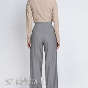 białe spodnie szerokie z wysokim stanem, które można