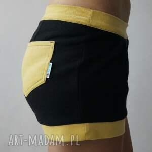 żółte spodnie szorty sweet shorts
