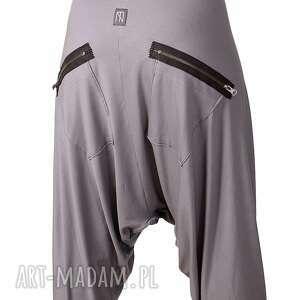 aladynki spodnie szare z zamkami alladynki