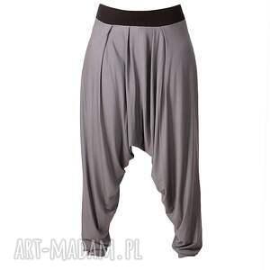 spodnie aladynki szare z zamkami alladynki
