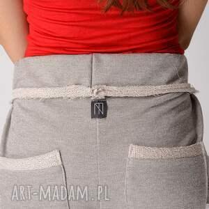 spodnie metaliczne szare dresowe