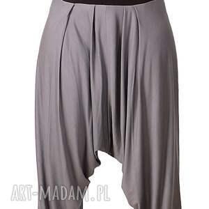 szare spodnie plussize z zamkami alladynki