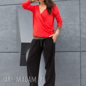 spodnie szerokie wiązane