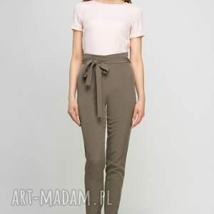 spodnie szarfa z szarfą, sd113 khaki
