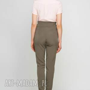 frapujące spodnie wstążka z szarfą, sd113 khaki