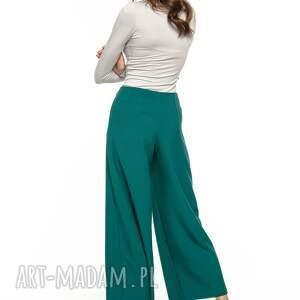 spodnie wysoki z szeroką nogawką, t272,