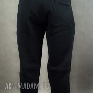 modne sportowe joggery dresowe czarne/męskie