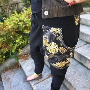 czarno złoty sportowe komplet damski bluza i spodnie