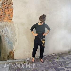 złote sportowe dres damski komplet bluza i spodnie