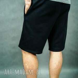 trendy sportowe męskie spodenki dresowe city shorts