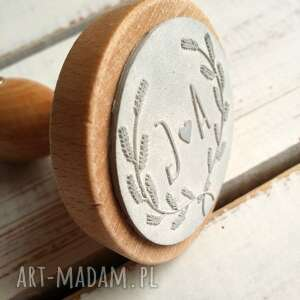 handmade stemple stempel ślubny personalizowany 60mm