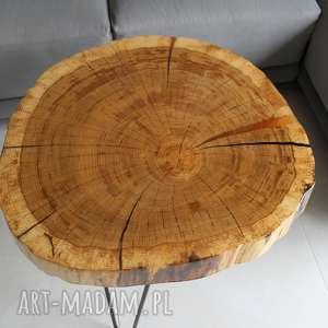Stolik kawowy plaster drewna dębu