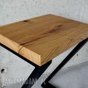 gustowne stoły loft hoker dąb czerń