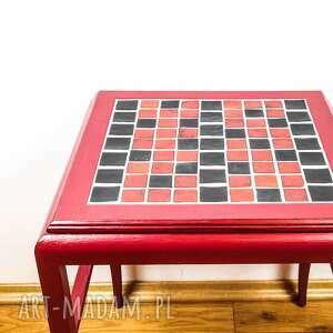 """ceramika stoły stolik, który dostał """"nowe życie"""""""