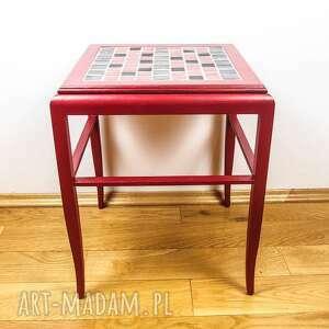 czerwone stoły stolik mały kawowy bordowy