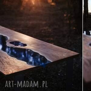 stoły stół dębowy do jadalni z motywem