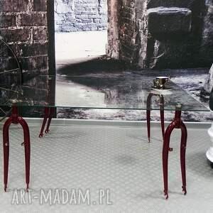 rowerowy stoły stół szklany forks