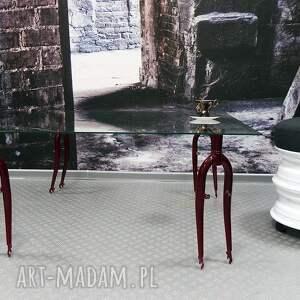 niebanalne stoły rowerowy stół szklany forks