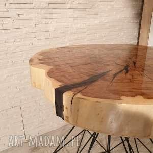 oryginalne stoły stolik drewniany z żywicy