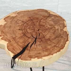 stolik stoły drewniany z żywicy