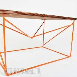 stoły designerski stolik fimbo - drewno z upcyclingu
