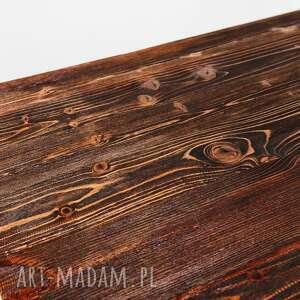 handmade stoły industrialny stolik fimbo - drewno z upcyclingu