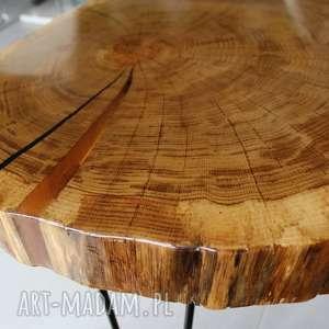 stolik stoły brązowe kawowy plaster drewna