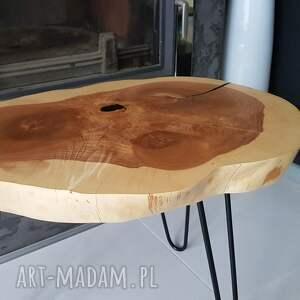 żywica stoły brązowe stolik kawowy plaster drewna jesion