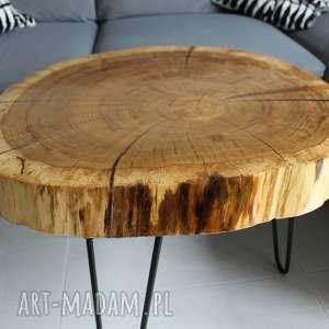 stoły stolik kawowy plaster drewna
