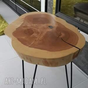 czarne stoły stolik kawowy plaster drewna jesion