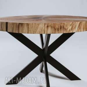 unikalne stoły stolik dębowy kawowy z plastra