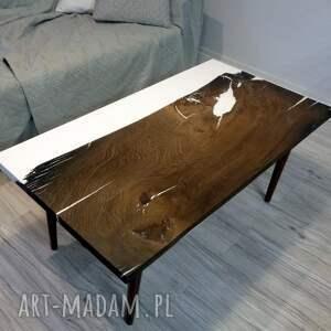 oryginalne stoły drewniany stolik kawowy z czarnego dębu