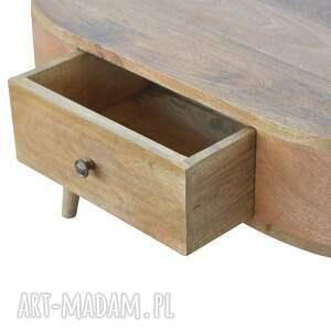 brązowe stoły lite drewno stolik kawowy ława z szufladami