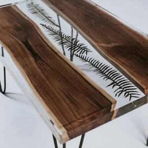 stoły orzech włoski stolik kawowy orzechowy z motywem