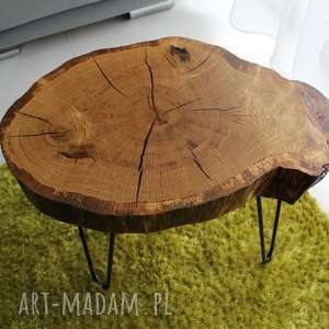 stoły stolik kawowy, plaster drewna