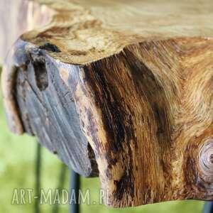Sciete i pociete Stolik kawowy, plaster drewna dąb - loft