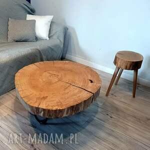 unikalne stoły stolikzplastradrewna stolik kawowy dębowy 2, kolekcja